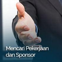 mencari pekerjaan dan sponsor